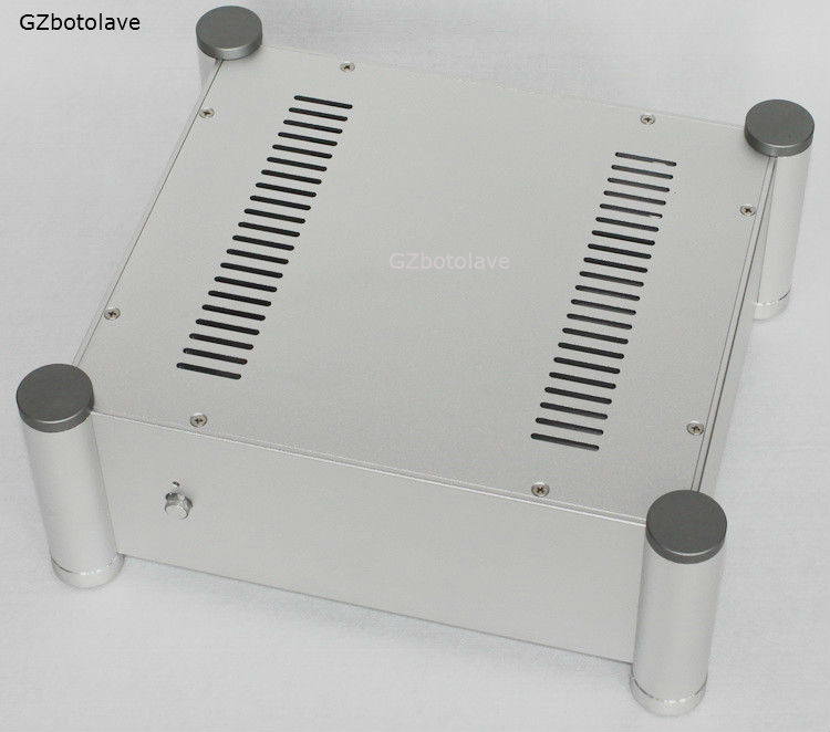 WA113 All aluminum amplifier chassis / Class A amplifier case / AMP Enclosure / case / DIY box(280*120*320mm) 435 86 310mm full aluminum power amplifier chassis rear amp chassis tube amplifier chassis amp enclosure case diy amp box