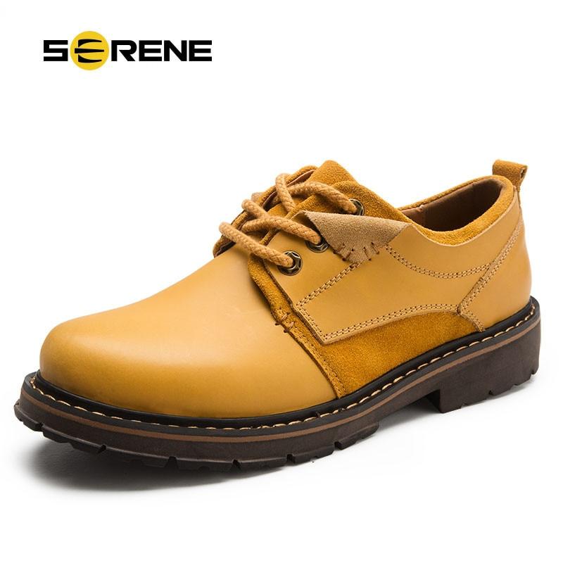 Grandes Trepadeiras up Brown brown Largura Couro 6266 De Lace Outono Homens Nice Black Sapatos light Trabalho Casuais Retro Tornozelo Dos Ferramentas BzdWPw