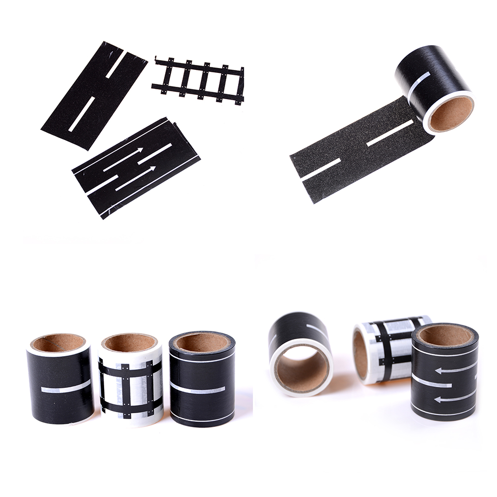 1Pc Railway Road Washi Tape ,wide creative traffic road Adhesive Masking Tape, road for kids toy car play