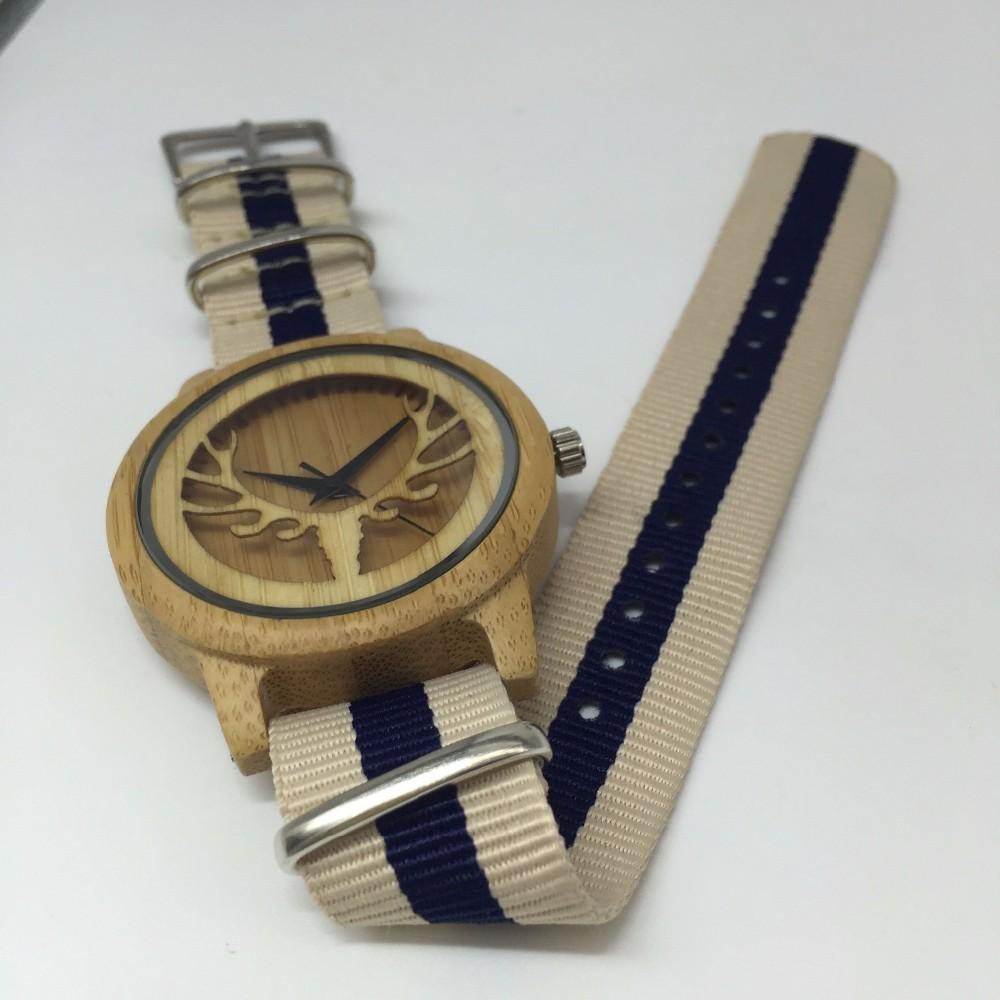 wood nylon watch 02