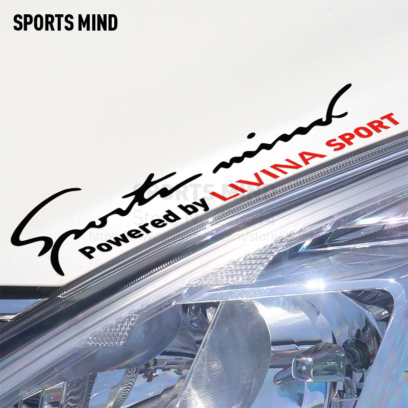 10 Pieces Sports Mind Car Styling On Car Lamp Eyebrow Automobiles Car Sticker For Nissan livina grand livina car accessories