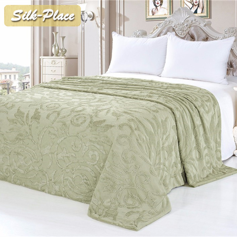 Silk Place Bedspread Fabrics-sofa Giant Decor Winter Double Bed Quilt Double Bed Sheets Bedding Set King Size Wool Blanket image
