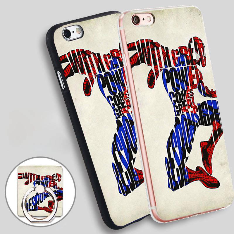 <font><b>Spiderman</b></font> <font><b>Art</b></font> Typography Soft TPU Silicone Phone <font><b>Case</b></font> Cover for <font><b>iPhone</b></font> 4 4S 5C 5 SE 5S 6 6S 7 Plus
