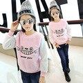Детская Одежда Милые Девушки Дети Одежда Розовый Белый Кот Футболки Одежда