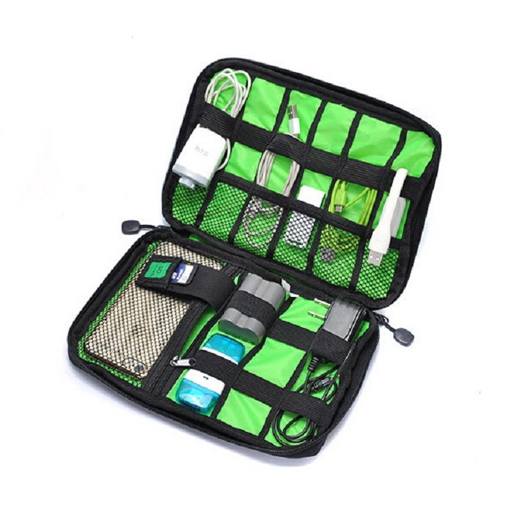 New Electronic Accessories Travel Bag Nylon Mens Travel Organizer For Date Line SD Card USB Cable Digital Device Bag cradle circle accessories bumps jazz new electronic drums 14shelf bulb accessories