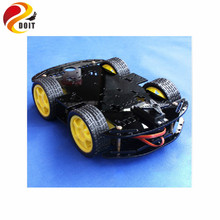 Official DOIT Smart RC Car Chassis with Velocity Tracing Obstacle Avoidance Control Race 4WD V6  R3 328P Raspberry pi Tractor