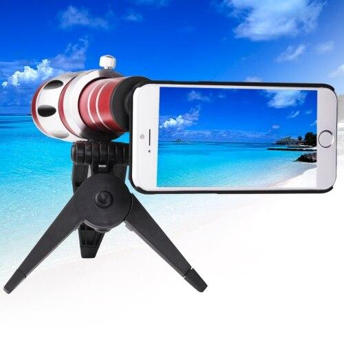Universal 20X Zoom:800M Telescope Lens Telephoto Camera Tripod For Apple iPhone 6S SE 4S 5C For Xiaomi Redmi Pro/S7 S6 Edge PLUS micro camera compact telephoto camera bag black olive