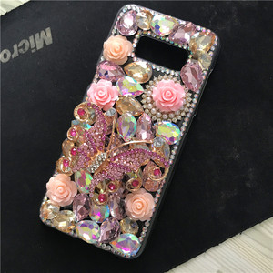 Image 2 - Luxe BRICOLAGE Cristal Diamant 3D Papillon Bling pour Samsung Galaxy A50 A70 A10 A20 A20E A40 A21S A30S A41 A31 A51 A71 A90 5G