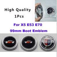 1pcs/lot Car trunk emblem badge 99MM Auto Trunk emblem badge cover auto boot logo label cap badge for x5 e53 e70 good quality