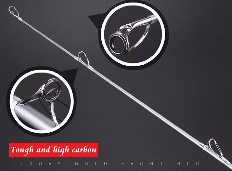 carbono fuji surf carcaça vara peso isca 100-250g