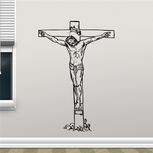 new arrival jesus christ on cross wall decal crucifixion christian
