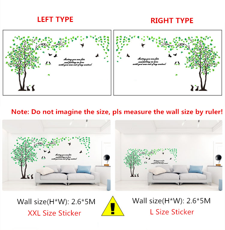Closeout DealsWall-Sticker Decorative Tree Bedroom Art Living-Room Acrylic Large-Size Tv Background