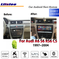 Liislee Car Android 7.1 up For Audi A6 S6 RS6 C5 1999~2004 Stereo Radio Video Carplay GPS Navi Map Navigation System Multimedia