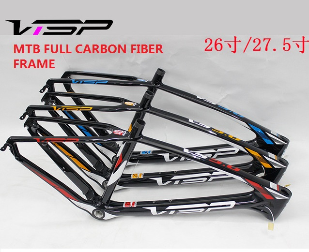 Mountain Bike Frame 17inch For 26er 27.5er Wheels MTB Full Carbon Fiber Frame Ultra light Cross Country Bicycle Parts