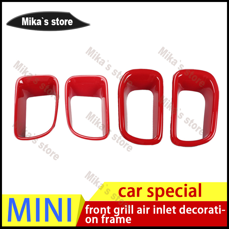 PC material For Mini Cooper car front grill air inlet decoration Sticker Countryman cooperS R60 F55 F56 car stying 2pcs /set carking d1409124 uk flag style abs uv protected door handle cover for mini cooper countryman 4 pcs