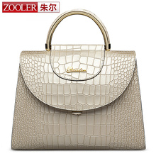ZOOLER Buckle open genuine leather Bag Handbags Women Famous Brand top handle Shoulder bags European Style #6928