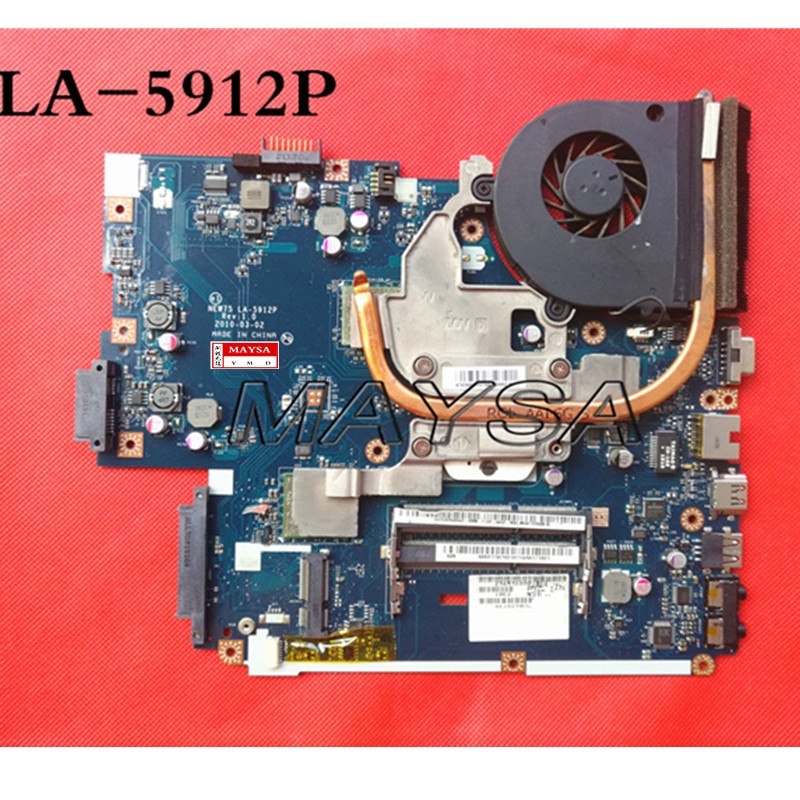 Original NEW75 LA-5912P Fit For ACER Aspire 5552G 5551G Laptop motherboard + heatsink= LA-5911P MB.BL002.001 (MBBL002001) DDR3 laptop motherboard fit for acer aspire 5551 5551g mbptq02001 mb ptq02 001 new75 la 5912p ddr3 mainboard