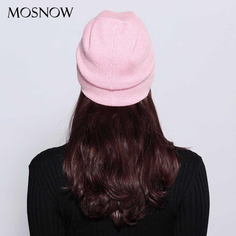 قبعات صغيرة للنساء صوف نسائي للخريف والشتاء علامة تجارية جديدة طبقة مزدوجة سميكة 2019 محبوك بنات Skullies Beanies # MZ725