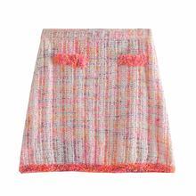 716a0d1398b4 Venta caliente recto Mujer Bb48-9238 europea y americana moda peludo  minifalda