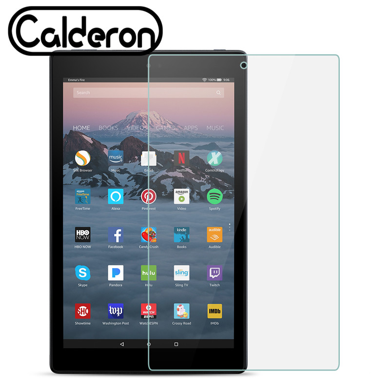 Tempered Glass For Amazon Fire HD 10 2017 Tablet PC Protector Kindle Fire HD7 2017 HD8 HDX7 Paperwhite 1 2 3 2012 2013 2015 Film