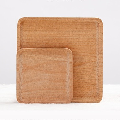 High Class Square Natural Wood Dinner Plates Simple Pattern Coffee Food Fruits Original Wooden Dish Elegant Service Tray-in Dishes u0026 Plates from Home ... & High Class Square Natural Wood Dinner Plates Simple Pattern Coffee ...