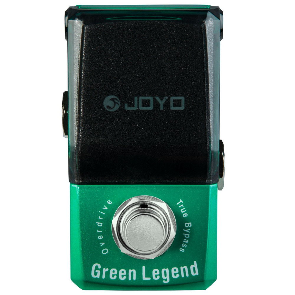 JOYO JF-319 Green Legend Overdrive Mini Electric Guitar Effect Pedal with Knob Guard with True Bypass joyo ironman orange juice amp simulator electric guitar effect pedal true bypass jf 310 with free 3m cable