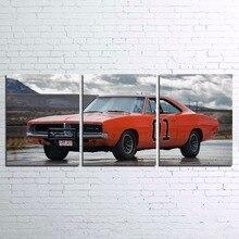Холст рамка Фотографии Искусство стены декора дома HD с современной общей плакат 3 предмета церемониям спортивный автомобиль живопись Гостиная Pengda