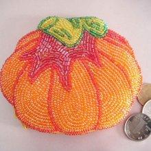 Кошелек для монет в виде тыквы, поделки из бисера, кошелек для монет, подарок на Хэллоуин, кошелек для монет ручной работы