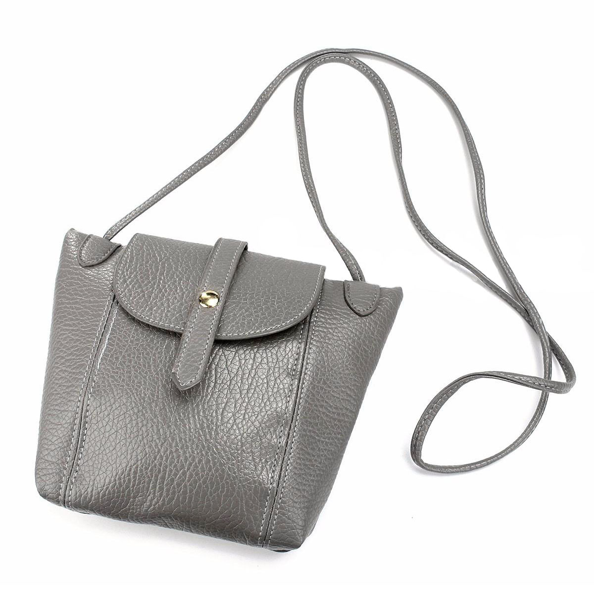 Ladies Leather Handbag Shoulder Bag Crossbody Women Messenger Satchel Purse Tote Colors:Gray