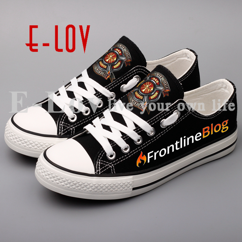 E-LOV Printed Fighter Customized Women Canvas Shoes Low Top Outdoor Espadrilles Valentine's Couples Walking Shoe e lov fashion luminous constellation canvas shoes low top sagittarius horoscope graffiti casual walking shoes for women