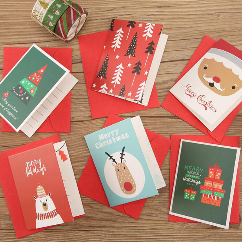 Christmas Card Message Holiday Greeting Card A For All Series Christmas With Envelope Simple Folding Thank You Card