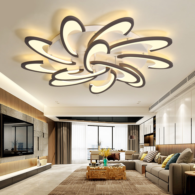 Iralan Modern Lustre Led Chandelier Luxury For Living/dining Room Kitchen Bedroom White/black App&remote Control Home Deco Hook Profit Small Ceiling Lights & Fans Chandeliers
