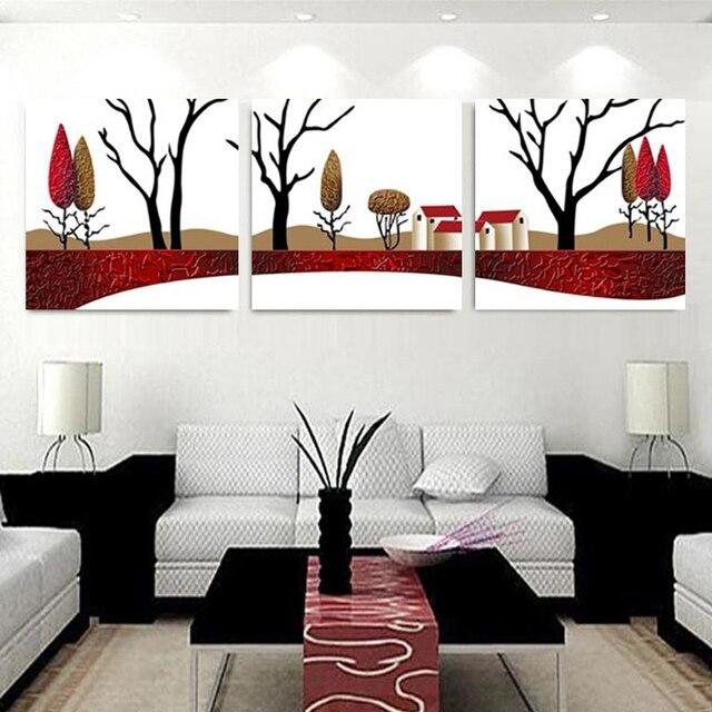 No Marcos cuadros decoracion lienzo pintura abstracta árbol feliz en ...