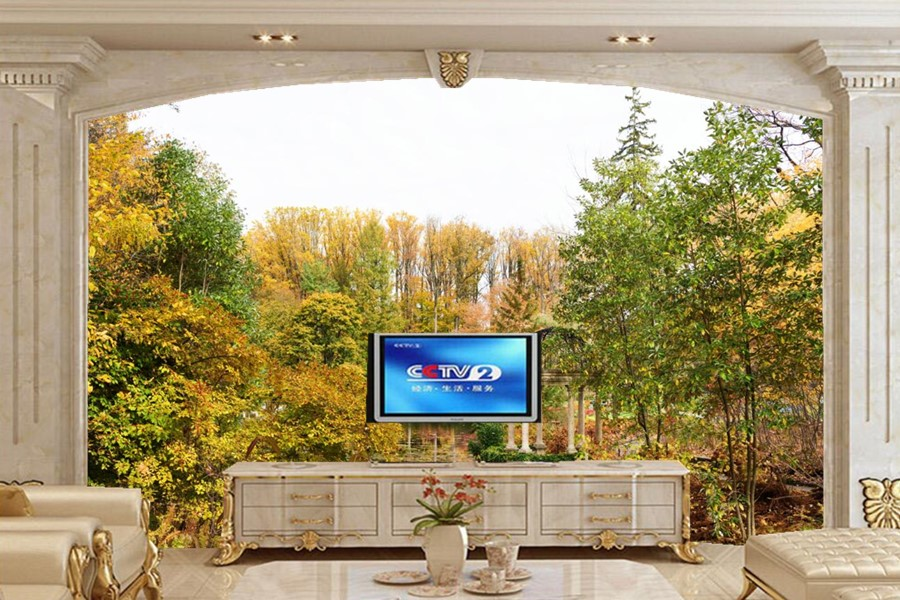 Large murals,USA Parks Pond  Autumn Trees Gardens Nature wallpaper,living room sofa TV wall bedroom 3d wallpaper papel de parede flame trees of thika