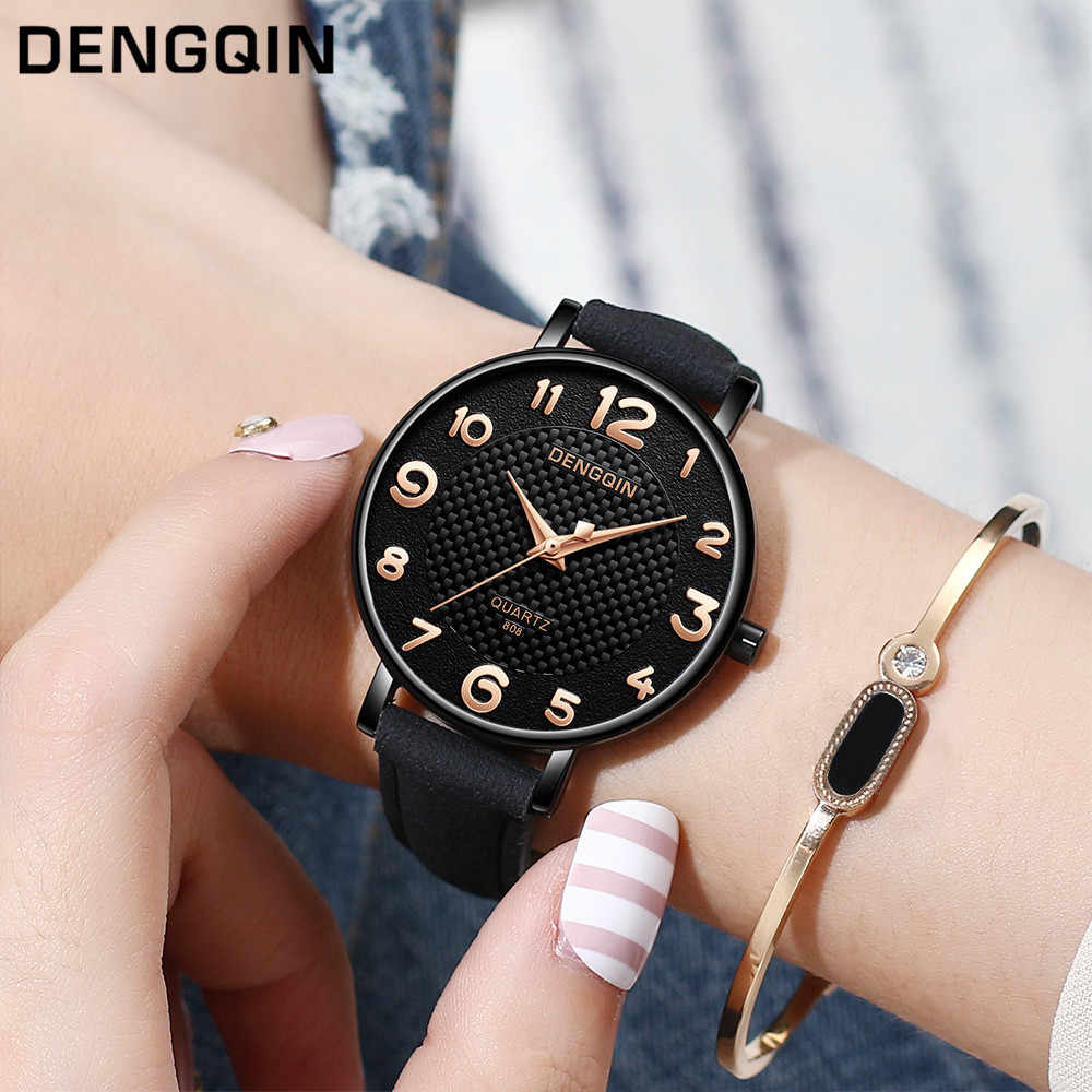 Women Watch Contrast Leather Quartz Watch Women Watches Lovers Unisex Casual Ladies Wristwatch 2018 Clock Relogio Feminino