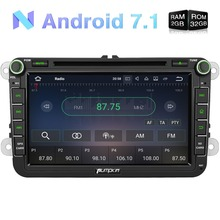 Wholesale!2GB RAM 8 Inch 2 Din Android 7.1 Car DVD Player For VW/Skoda/Seat/Golf/Polo GPS Navigation Radio With 3G Wifi USB