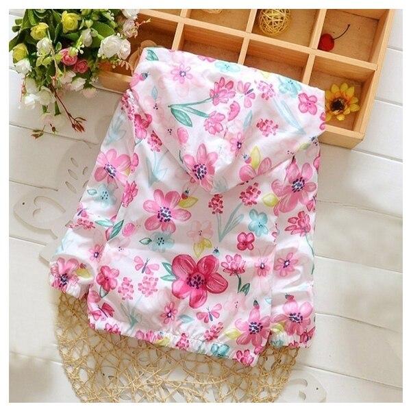 HOT SALE Baby Kids Girls Flowers Hoodie Jackets Long Sleeve Windbreaker Autumn Coat Pink 80
