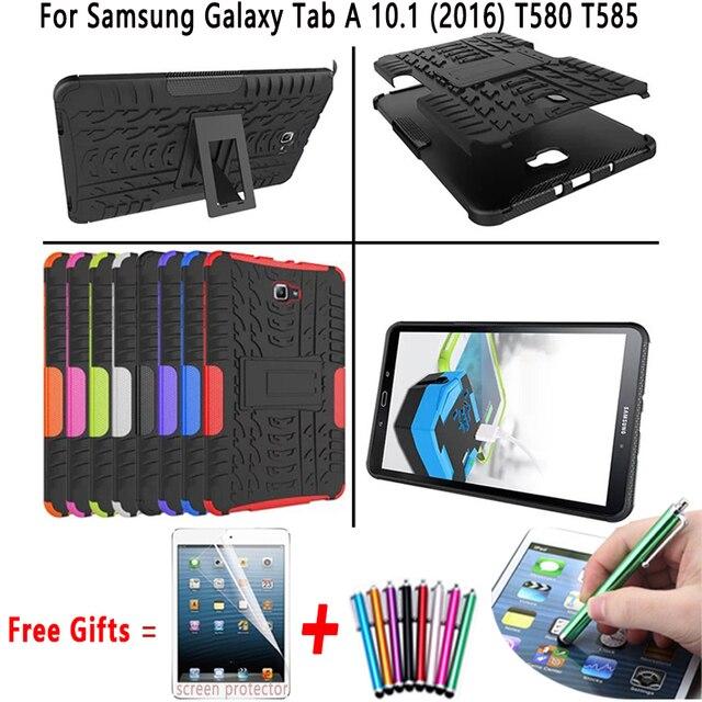 Dazzle Heavy Duty Impact Гибридный Броня Kickstand Hard case Для Samsung GALAXY Tab A T580 T580 T585 10.1 дюймов с Подставкой Функции