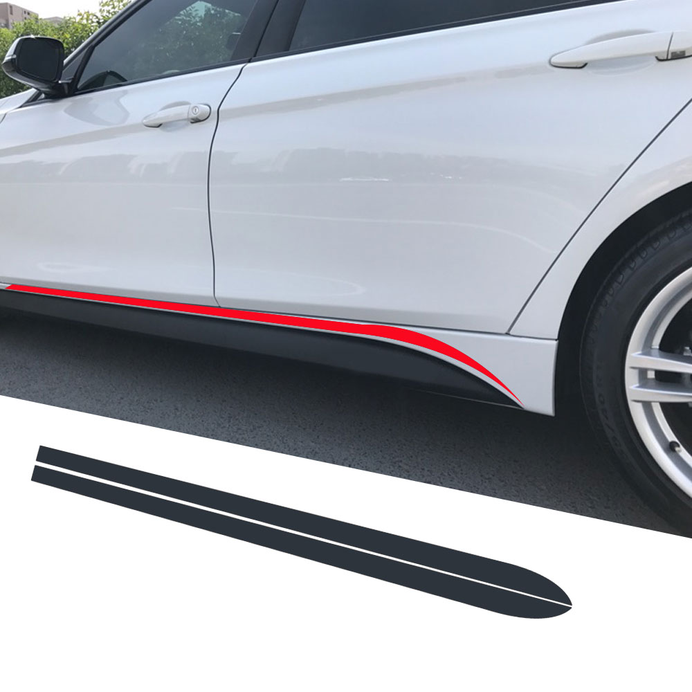 Side Skirt Stripe Sticker Body Decal M Performance For BMW 3 Series F30 F31 F34 F35