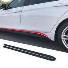 Сбоку юбка в полоску Стикеры Средства ухода за кожей наклейка M производительность для BMW 3 серии F30 F31 F34 F35 320i 318d 316D 320d 328i 330d E60 E61