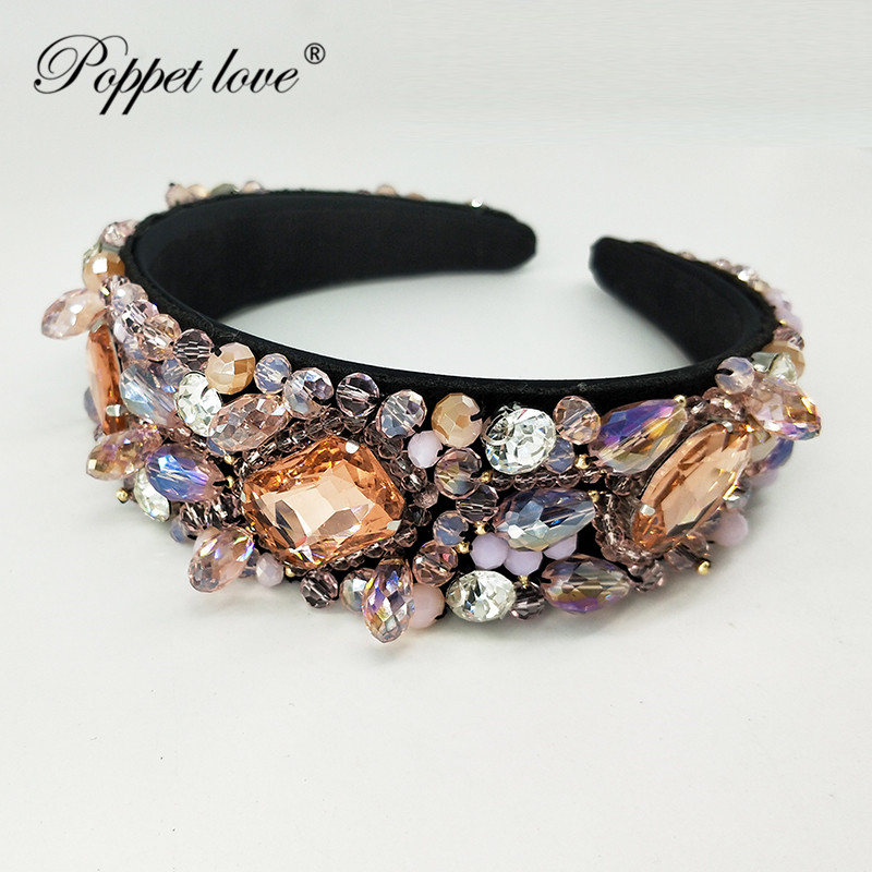 Styles Fashion Crystal Bridal Pink Crown Tiaras Light Gold Diadem Tiaras For Women Bride Wedding Hair Jewelry Accessories Gift