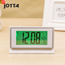 Quiet clock snooze alarm fashionable LED with temperature electronic