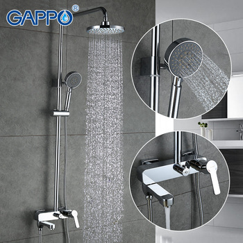 GAPPO bath shower faucets set bathtub mixer faucet bath rain shower tap bathroom shower head stainless shower bar GA2402 gappo shower faucet bath mixer black massage shower faucets bathtub tap sets shower mixer torneira do anheiro shower faucet sets