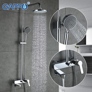 Image 1 - GAPPO vasca da bagno rubinetti doccia set miscelatore vasca da bagno rubinetto della vasca da bagno doccia a pioggia rubinetto del bagno doccia testa doccia in acciaio bar GA2402