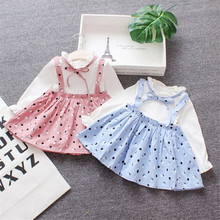 Girls Dress 0-1 Baby Dress Summer Cotton Small Children Prin