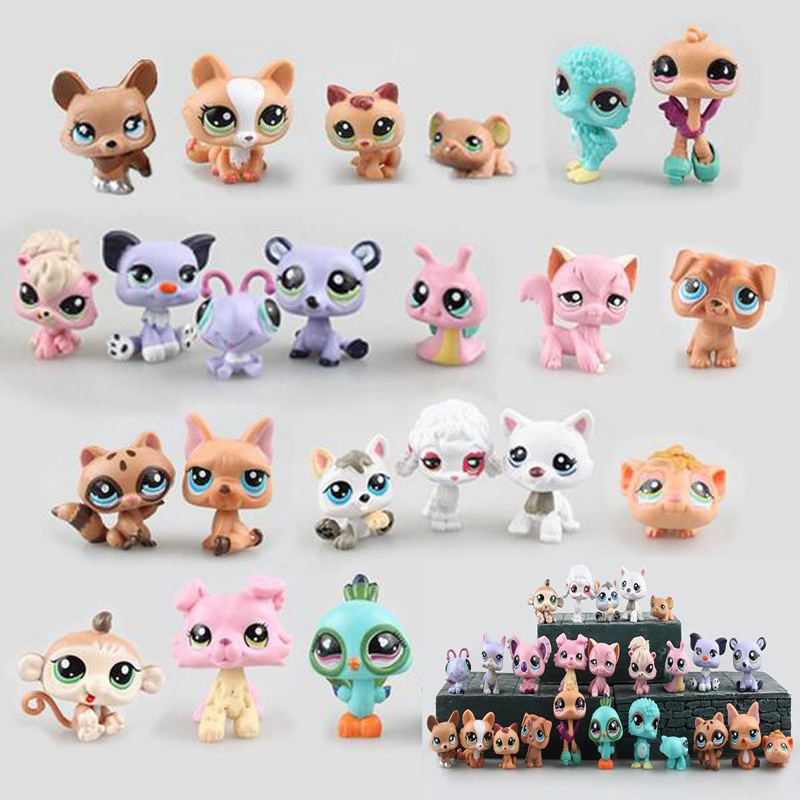 2017 Fashion 24pcs/set Cartoon Pet Shop Characters Action Figure Model Toys