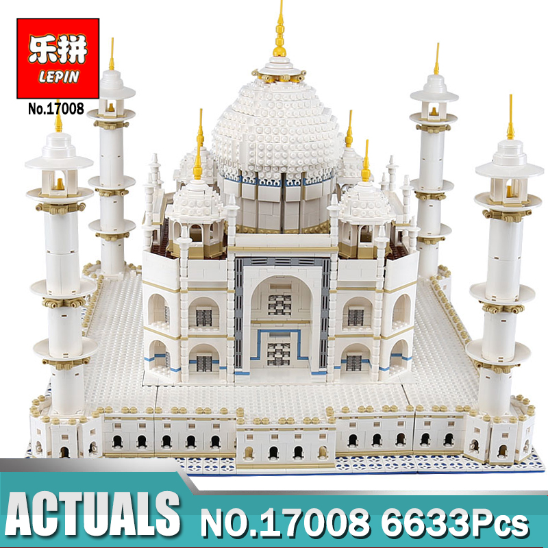 LEPIN 17008 6633Pcs The Tai Mahal Model Building Kits Brick Toys Compatible LegoINGlys 10189 Educational toy for Children Gift lepin 14042 knights heavy armed mobile tracker model building blocks brick toys for children christma gift legoinglys 72006