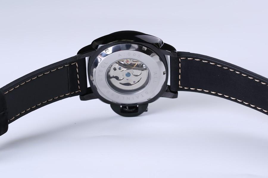 relojes esqueleto, mecánico negro, 7