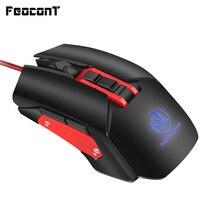 Mouse de jogo macro com fio  mouse para jogos à esquerda e direita  3200dpi  5 arquivo  ajustável  9 botões  usb para pc