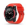 Mostrador redondo relógio v8 smart watch saúde para smartphone android apoio tf cartão sim câmera bluetooth smartwatch u8 pk gt08